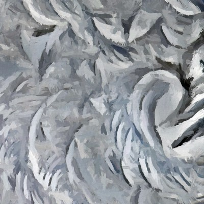 abstract frost swirls