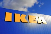RAISIO, FINLAND - SEPTEMBER 21: Sign IKEA at IKEA Raisio Store on September 21, 2013 in Raisio, Finland. As of January 2008, the company is the world's largest furniture retailer.