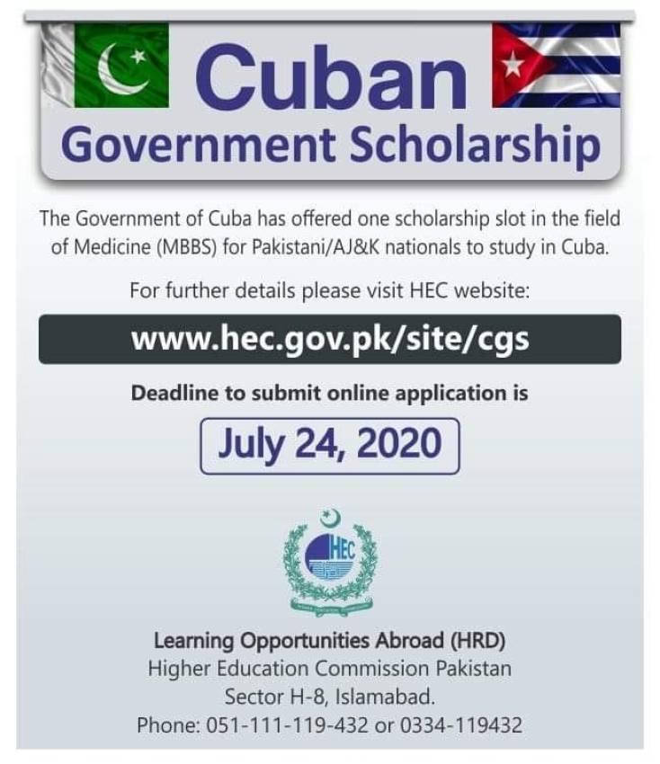 Cuban Government Scholarship