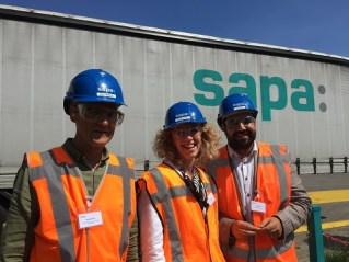Projectbegeleider Joep Krijnen, accountmanager Judith Daelmans en accountmanager Said Majiti van Baanbrekers.