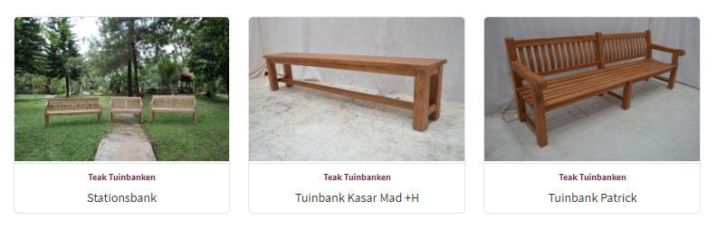 Tuinbanken - Teak Meubelen - Baan Wonen