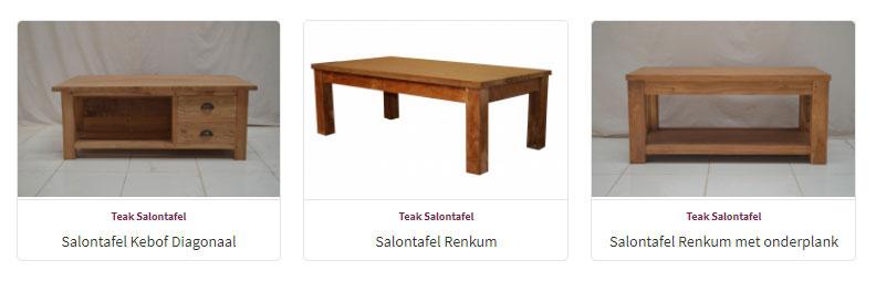 Salontafels - Teak Meubelen - Baan Wonen