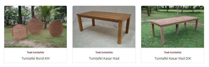 Tuintafels - Teak Meubelen - Baan Wonen