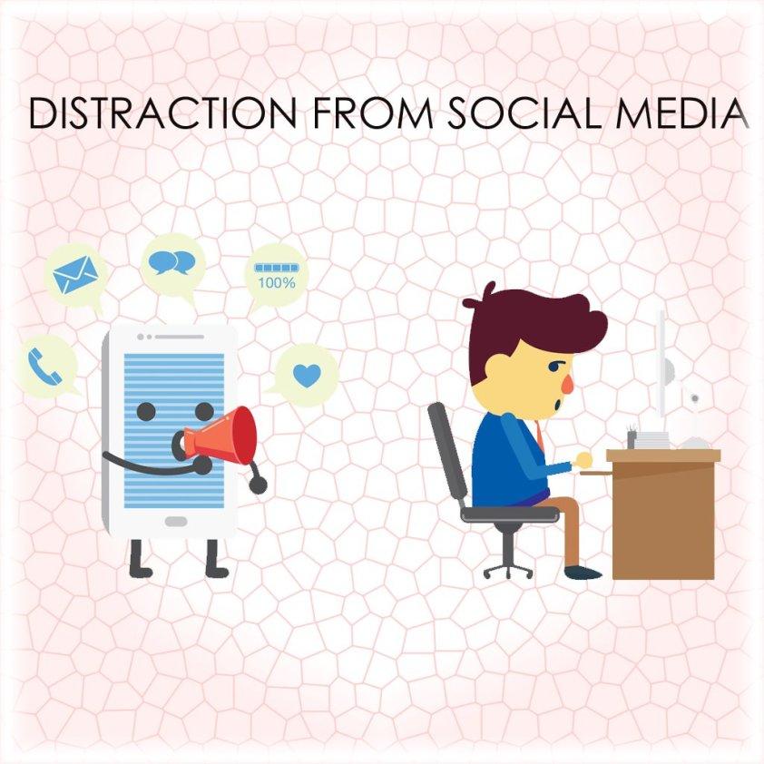 avoid distraction from social media
