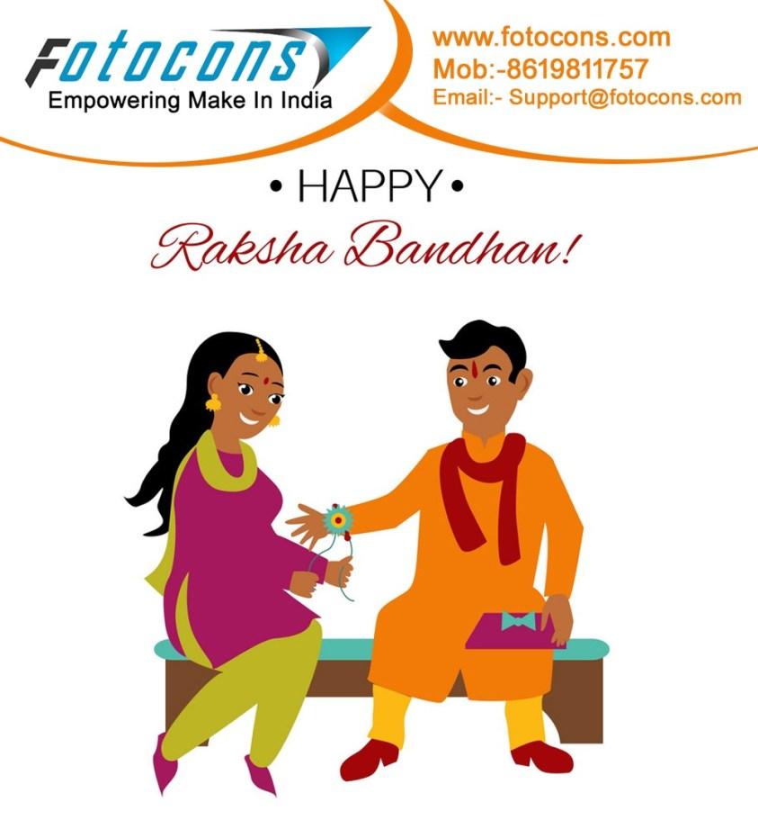 Happy Raksha bandhan Greetigs fro Fotocons