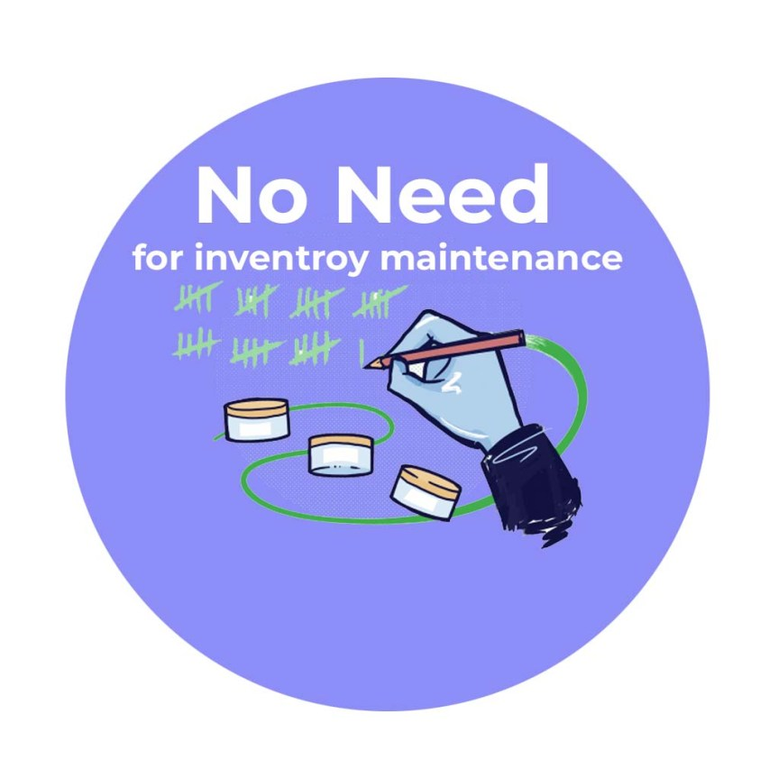 No need to maintain inventory and warehouse