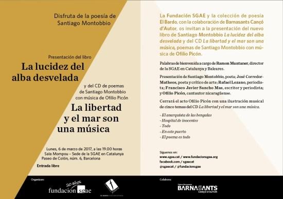 Invitacion Santiago Montobbio 6 marzo SGAE