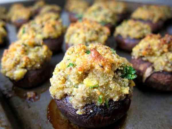 Parmesan stuffed mushrooms
