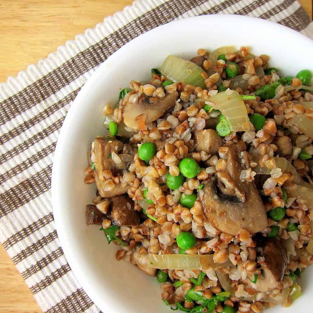 Buckwheat Kasha with Mushrooms and Onions - 20 Minute Side Dish
