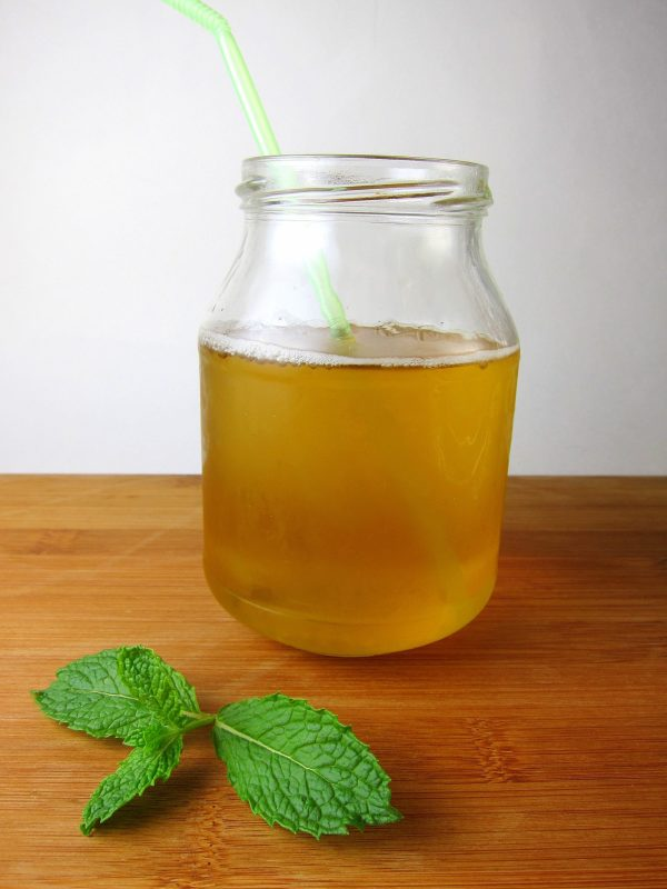 minty green iced tea