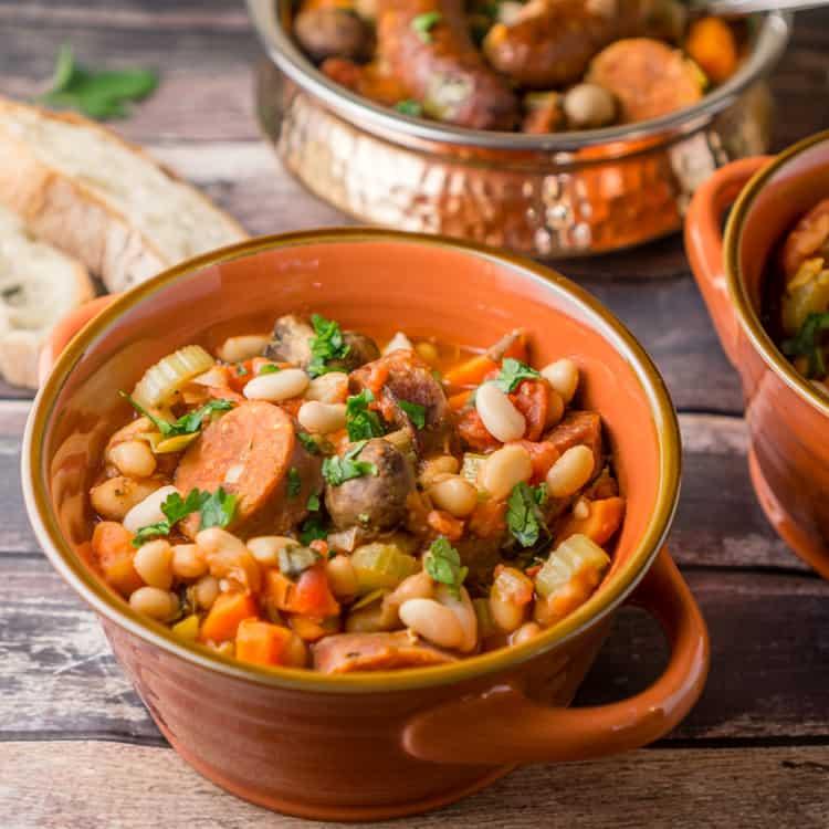 slow cooker cassoulet