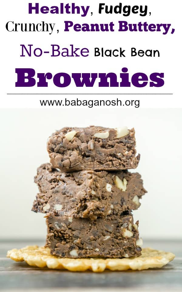 Healthy, fudgey, peanut buttery, no-bake brownies. Does it get any better than this? These Peanut Butter No Bake Fudge Brownies are easy to make!