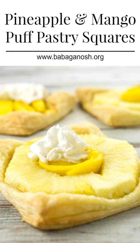 These Pineapple and Mango Puff Pastry Squares are a favorite go-to dessert when you need something quick and easy to make. They are truly irresistible!
