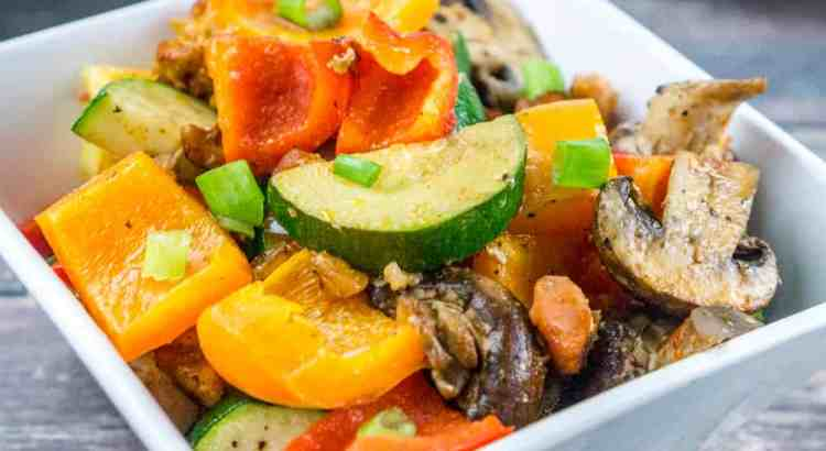 Bacon Roasted Vegetable Side Dish