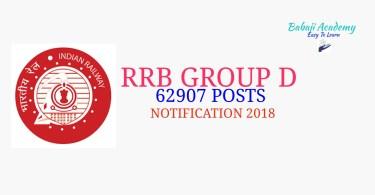 RRB GROUP D 2018