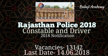 Rajasthan Police Bharti News 2018