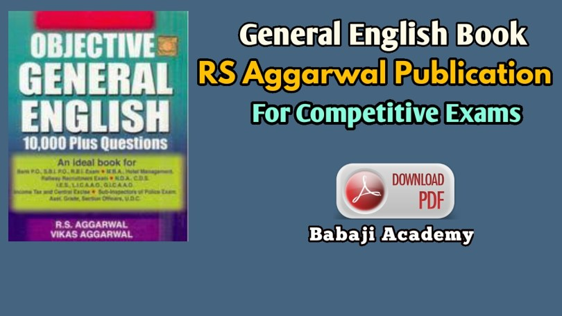 RS Aggarwal Publication general English language books