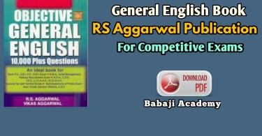 RS Aggarwal Publication general English language books