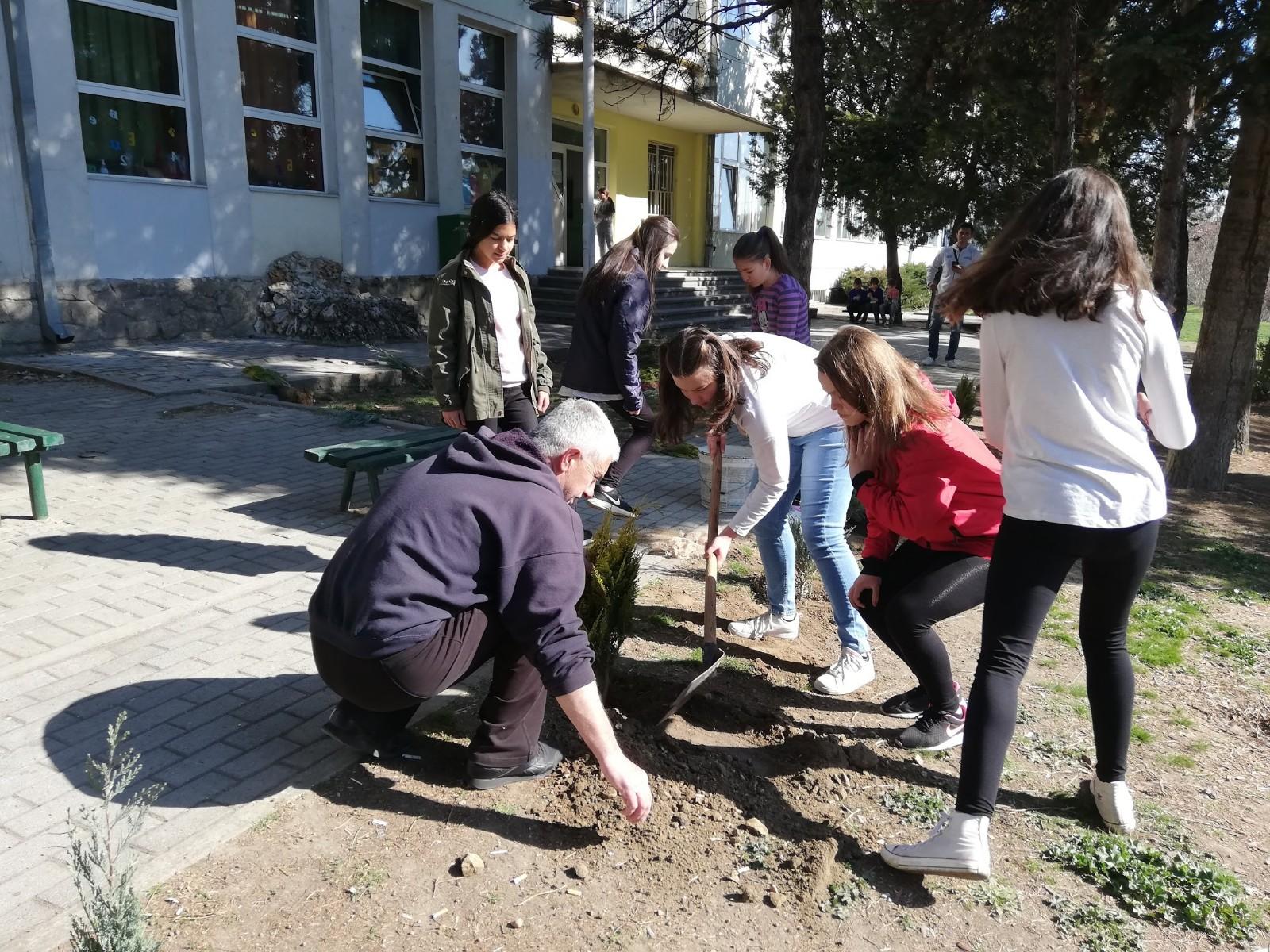Учениците од ОУ Тодор Ангелевски денес засадија садници за наше подобро утре