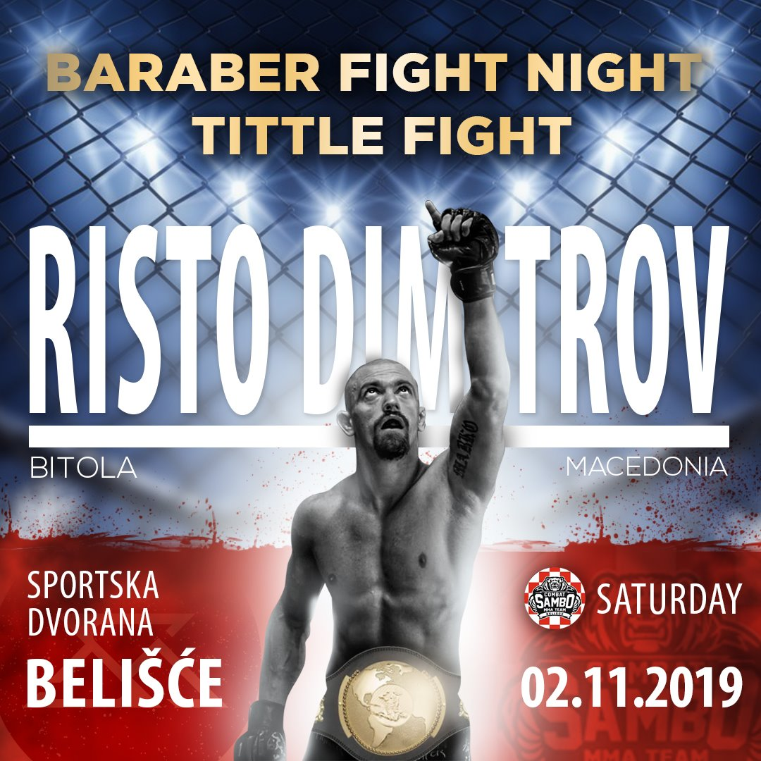 """Нашиот битолски гладијатор Чурино доби шанса за борба на """"Baraber Fight Night"""" во Република Хрватска"""