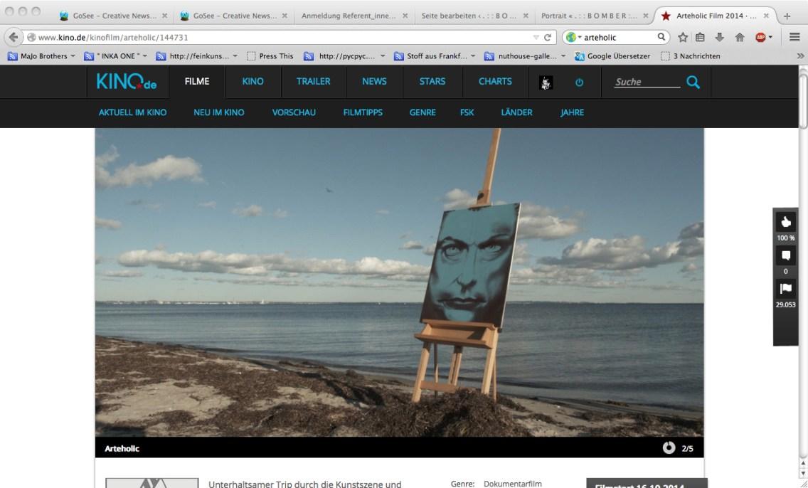 Portraits Actor Udo Kier for the movie Arteholic of Hermann Vaske, 2013