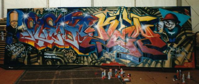 All headz 2 hesse feat. Kent & Fuego / Nordmassiv / Binding Squad, Hip Hop Bühne Hessentag 1998 Erbach