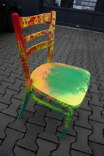 Designchair red/yellow/green 2014 Designstuhl rot/gelb /green 2014