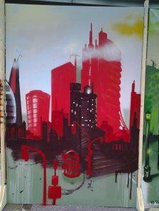 Skyline red, 200 x 300 cm, 2013, private property