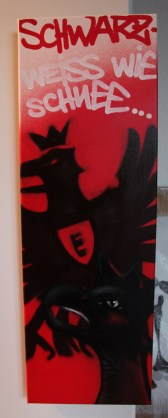 EFC SGE Adler 2013, 30 x 80 cm spraycan on framed canvas, 2013, private property