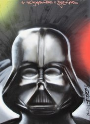 Darth Vader 60 x80 cm, spraycan on framed canvas, 2013, private property