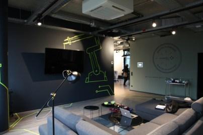 Tape Art Robotik, Vinci Energies Digitalschmiede, Digitalspace, Frankfurt 2018