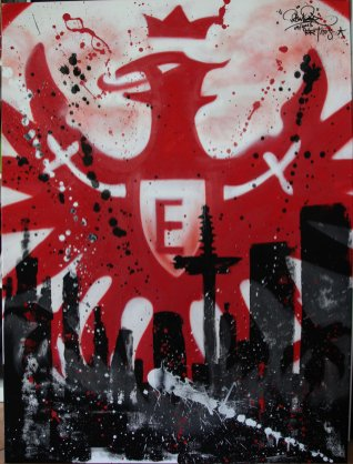 EFC SGE 2013, 60 x 80 cm spraycan on framed canvas, 2013, private property