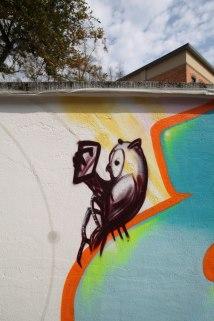Eule, owl, Textorschule Europaschule Fassade Socialday 2019