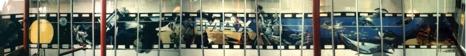 Zootiere, Unterwasserlandschaft und Abenteuermotive auf 5 x 50 m (250 qm) Imax Zeilgalerie Frankfurt Ebene 7, 1998