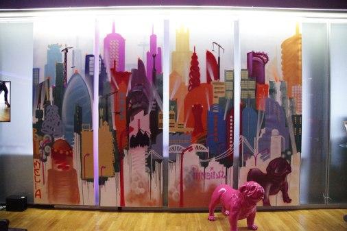 SKYLINE Innside Hotel Foyer Niederrad 4 x 100 x 280 cm, 2018