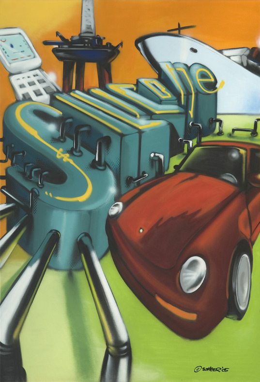 Dow Corning 200 x 300 cm Silicone, Spraycan on canvas