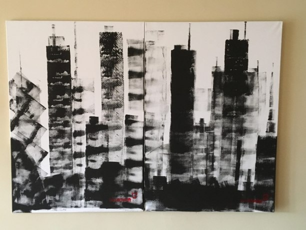 Skyline 2018, 2 x 60 x 80 cm, private property
