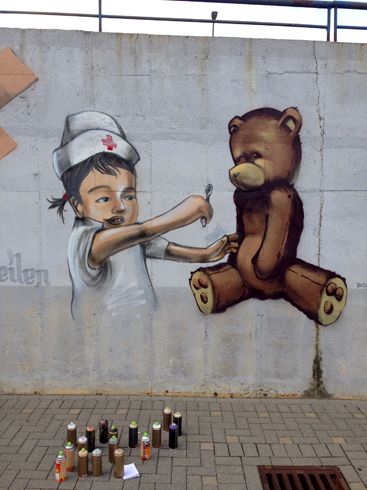 Helios Klinik Fassadenkunst inkl. Graffiti Art Workshop, Bad Schwalbach 2016