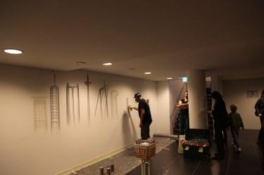 Grand Opening Innside Ostend by Melia Live Urban Art Spray Event Skyline Frankfurt Topics 19.10.2017