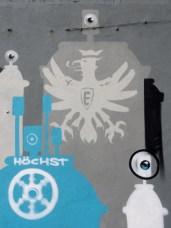 Höchster Rad, Eintracht Frankfurt LOGO SGA Leunabunker Frankfurt-Höchst 2010