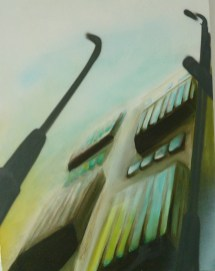 Laternen. Free Art on Canvas Kooperation Natalie Goller/Bomber 2009