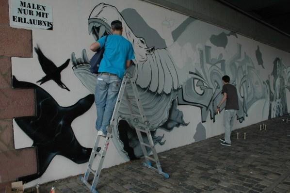 SNNC-Style needs no color Friedensbrücke Frankfur, 2012