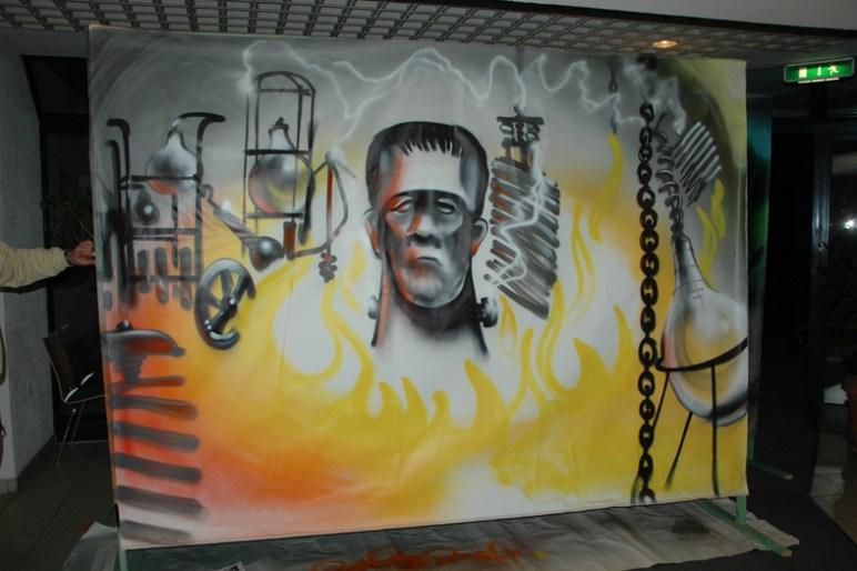 Frankensteins Labor, Bühnendekoration, CCM Carnevals Club Mainperle 2011, Okriftel