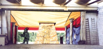 Die Herrin vom Nil, Bühnendesign 8 x 4 m, 1999