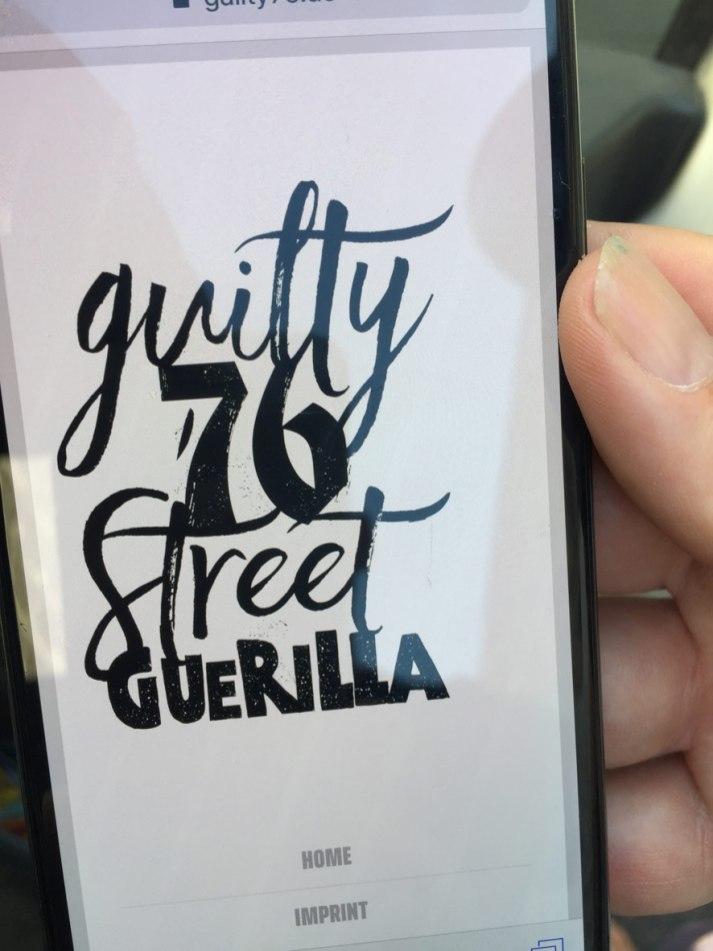 Guilty 76 Street Guerilla Taunusstraße Frankfurt am Meer