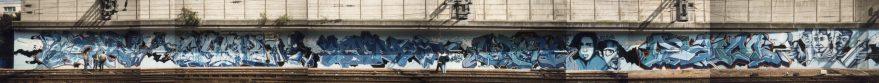The blue wall @ Paris Gare du Nord 1994