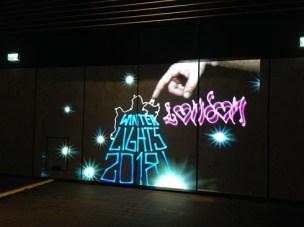 Winter Lights Luma Paint Light Graffiti @ canary wharf, London 2018