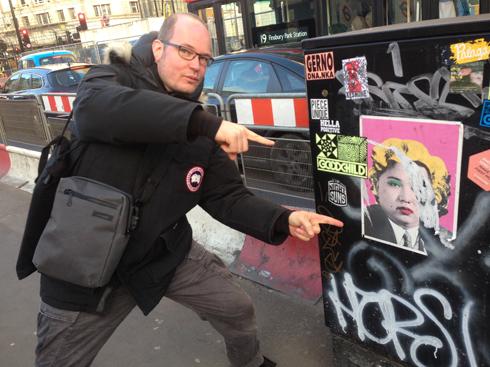 Marcel Panne with Street art …