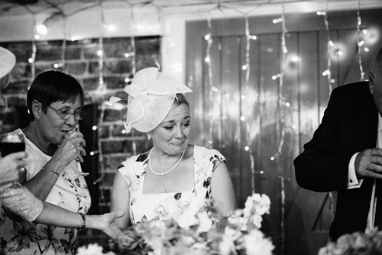 Tears during wedding speeches BABB Photo