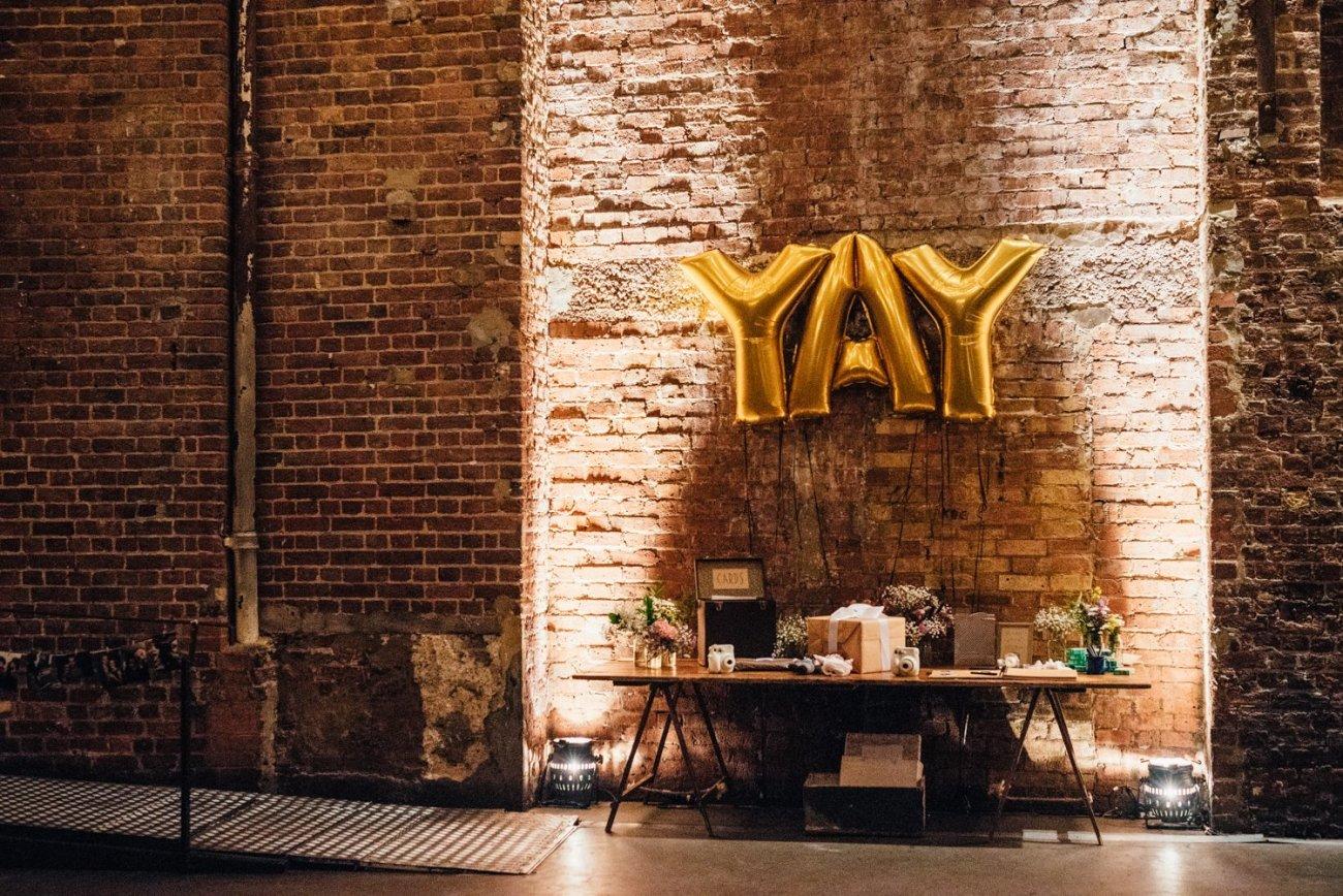Village Underground wedding decor